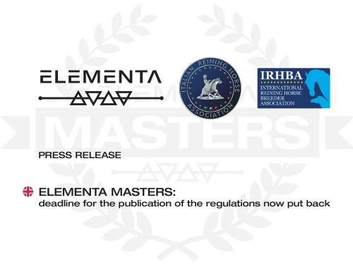 ELEMENTA MASTERS: deadline for the publication of the regulations now put back
