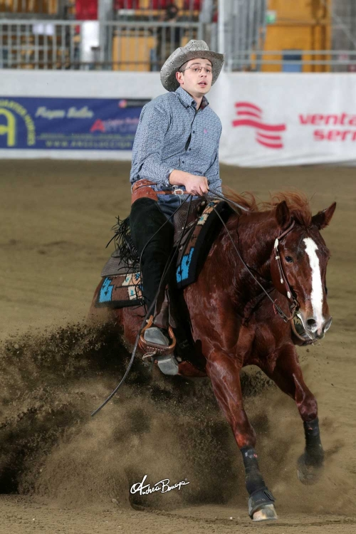 Futurity 2018 - ANDREA CASTELLI & MISS PLAYGUNS owner ANDREA CASTELLI score 209,5
