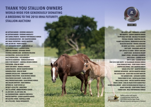 Thank you stallion owners!