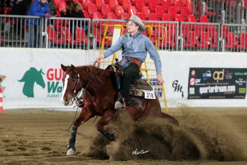 Futurity 2018 - ANDREA CASTELLI & MISS PLAYGUNS owner ANDREA CASTELLI score 142,5