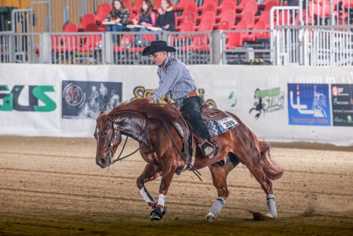 Futurity 2019 - MASSIMILIANO RUGGERI & MR NO GUNS IN TOWN score 219