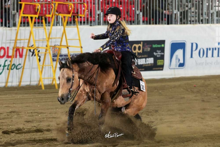Futurity 2018 - SOFIA GASSER & JAC LITTLE STEP owner SOFIA GASSER score 138,5
